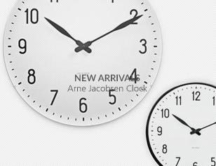 NEW ARRIVALS Arne Jacobsen Clock