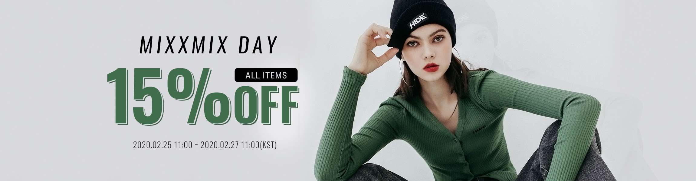 MIXXMIX DAY All items 15%OFF