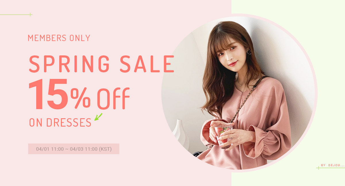 Spring Sale 15% Off On DRESSES